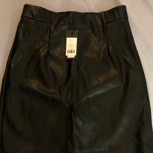 Faux leather mini skirt (Size S)